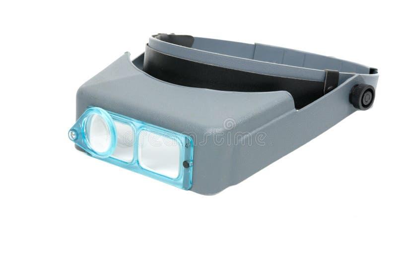 Lupe kopf-angebracht für elektronisches lizenzfreie stockfotografie