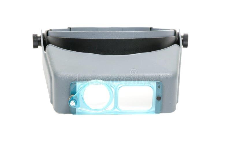 Lupe kopf-angebracht für elektronisches stockfotos