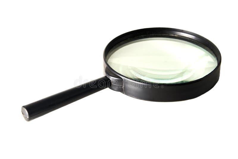 Lupe lokalisiert auf einem weißen Hintergrund lizenzfreie stockfotografie
