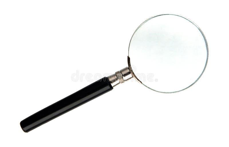 Lupe mit einer Linse stockbild