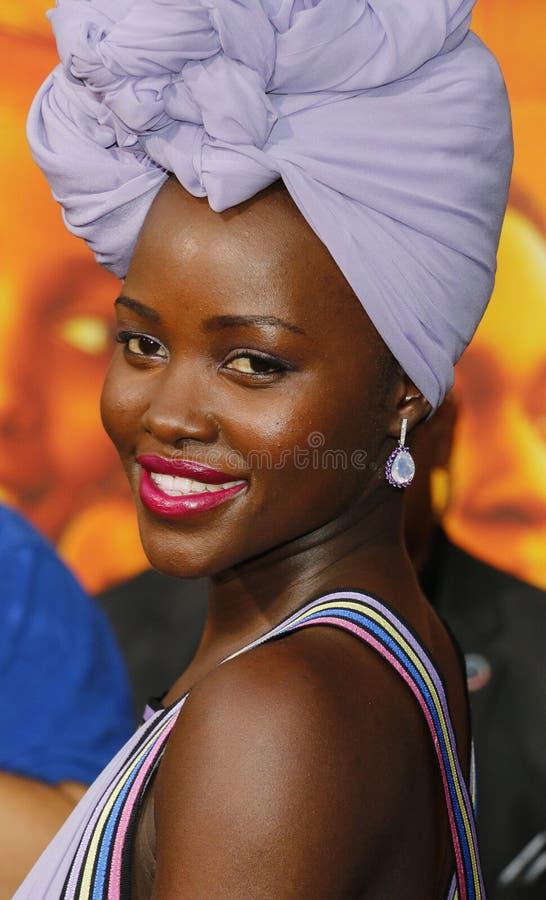 Lupita Nyong ' o stock afbeelding