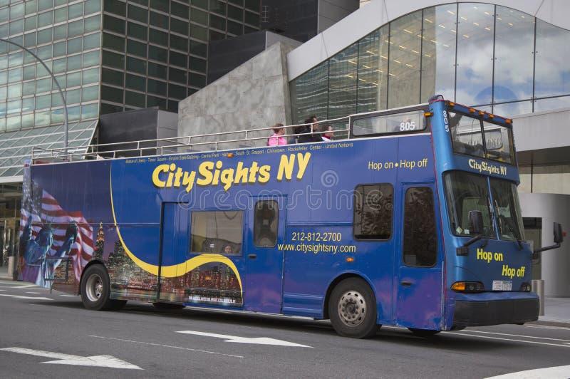 Luppolo di viste NY della città sul bus Hop off in Manhattan immagini stock libere da diritti