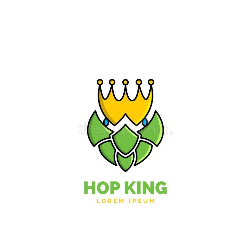 Luppolo e corona su fondo bianco Simbolo Vettore royalty illustrazione gratis