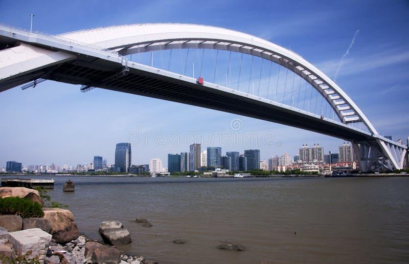 Lupu Bridge Shanghai China royalty-vrije stock afbeeldingen