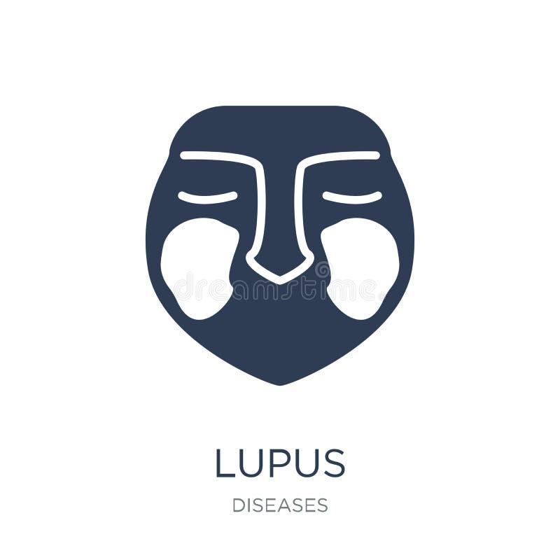 Lupus erythematosuspictogram In vlak vectorlupus erythematosus stock illustratie