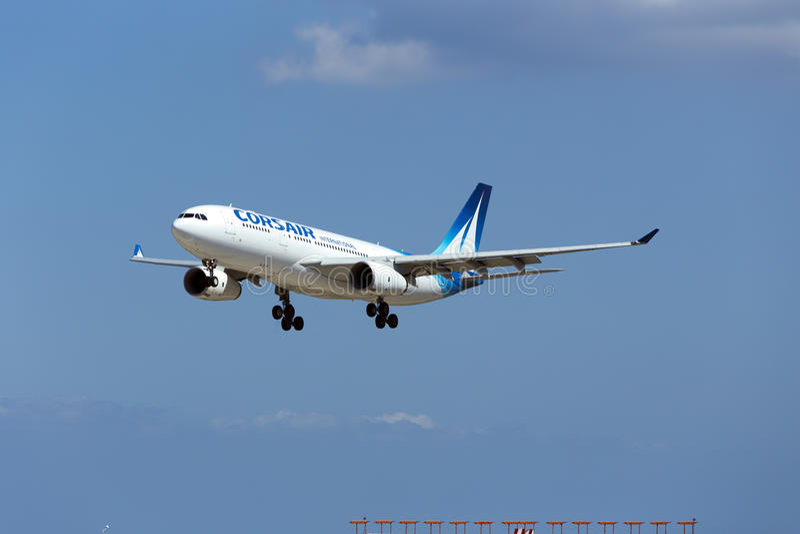 Luqa, Μάλτα - 10 Σεπτεμβρίου 2015: Πειρατής A330 στοκ εικόνες
