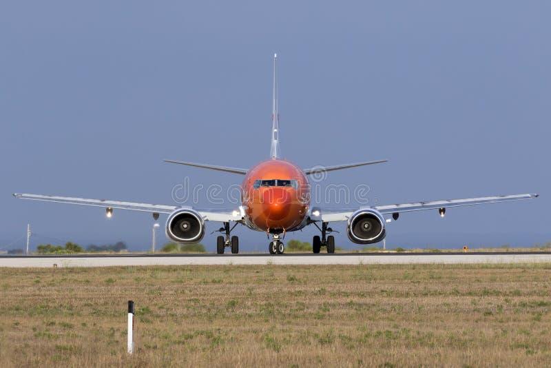 Luqa, Malta 13 agosto 2015: TNT 737 immagini stock