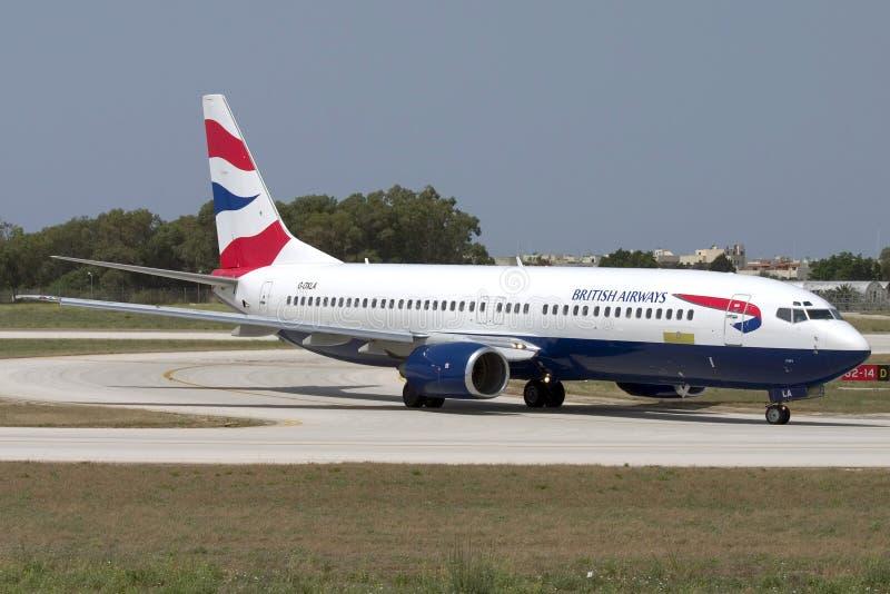 Luqa, Malta - 5 July 2007: BA 737. royalty free stock images