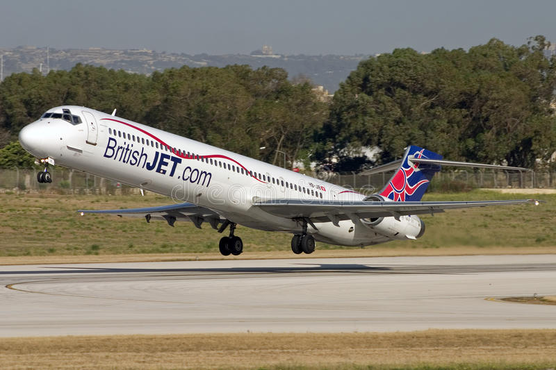 Luqa, Malta - 8 June 2007: Low Cost Airline. stock photo