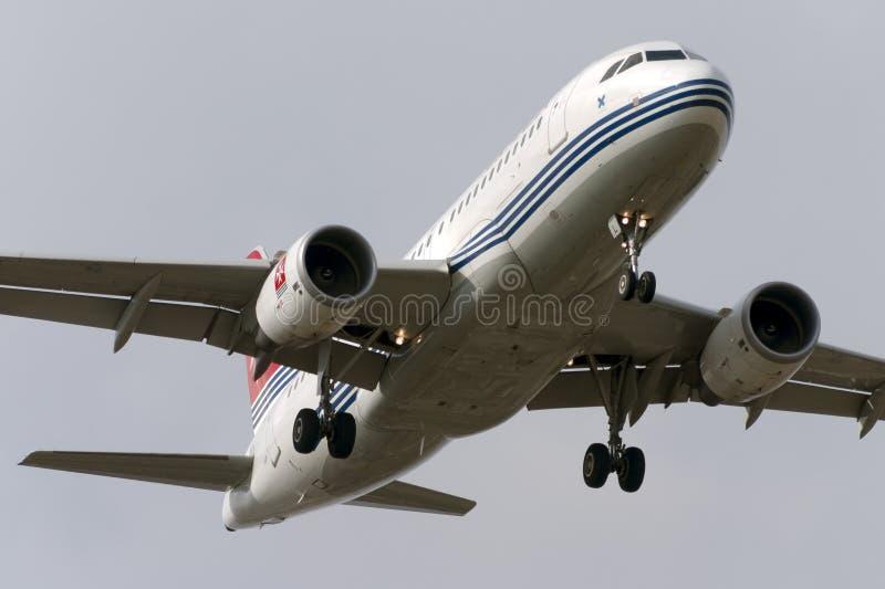Luqa, Malta 12 2005 Październik: Lotniczy Malta A319 obraz royalty free