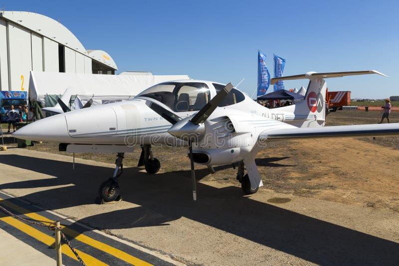 Luqa, Malta 26 September, 2015: Diamond Light Aircraft stock afbeeldingen