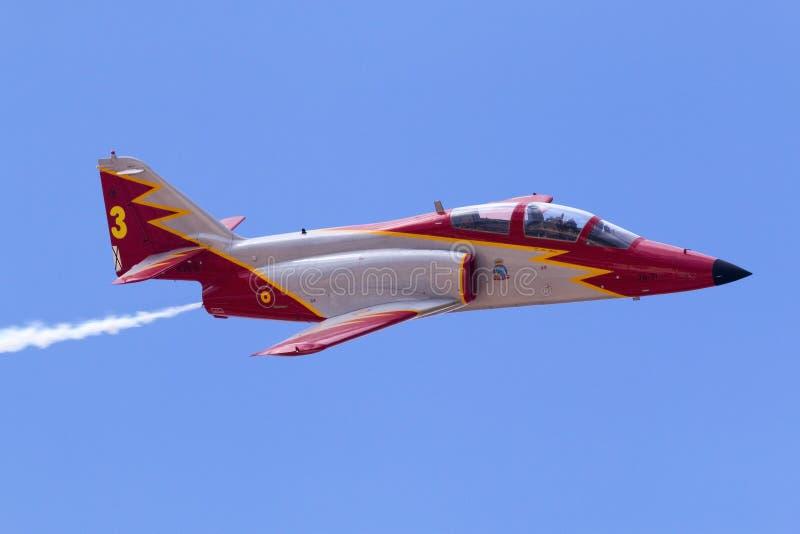 Luqa, Malta 26 settembre 2014: Casa C-101 Aviojet fotografie stock