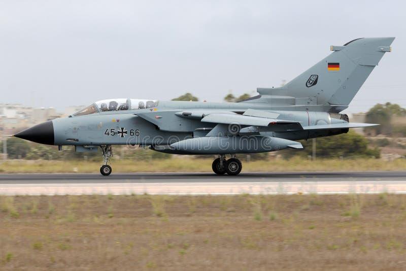 Luqa, Malta 25 settembre 2014: Tornado tedesco fotografie stock libere da diritti