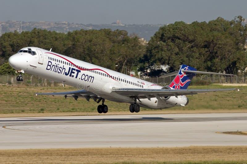 Luqa, Malte - 8 juin 2007 : Ligne aérienne de coût bas photo stock
