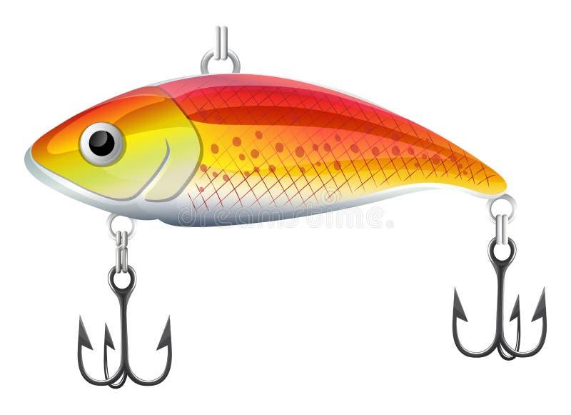 Lur di pesca illustrazione di stock