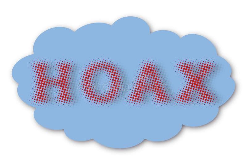 Lura rastrerad text i moln vektor illustrationer
