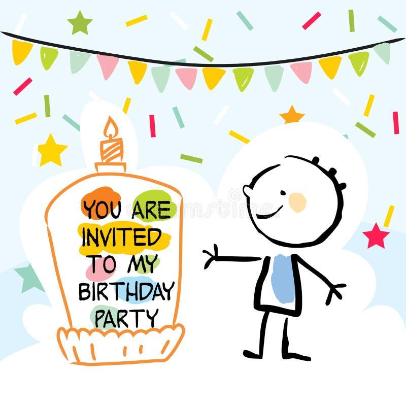 Lurar födelsedagkortet stock illustrationer