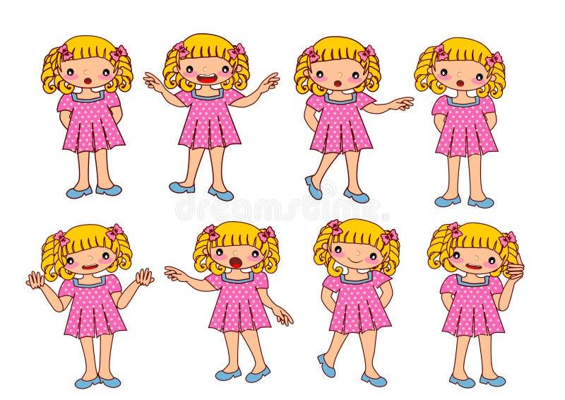 Lurar flickan royaltyfri illustrationer