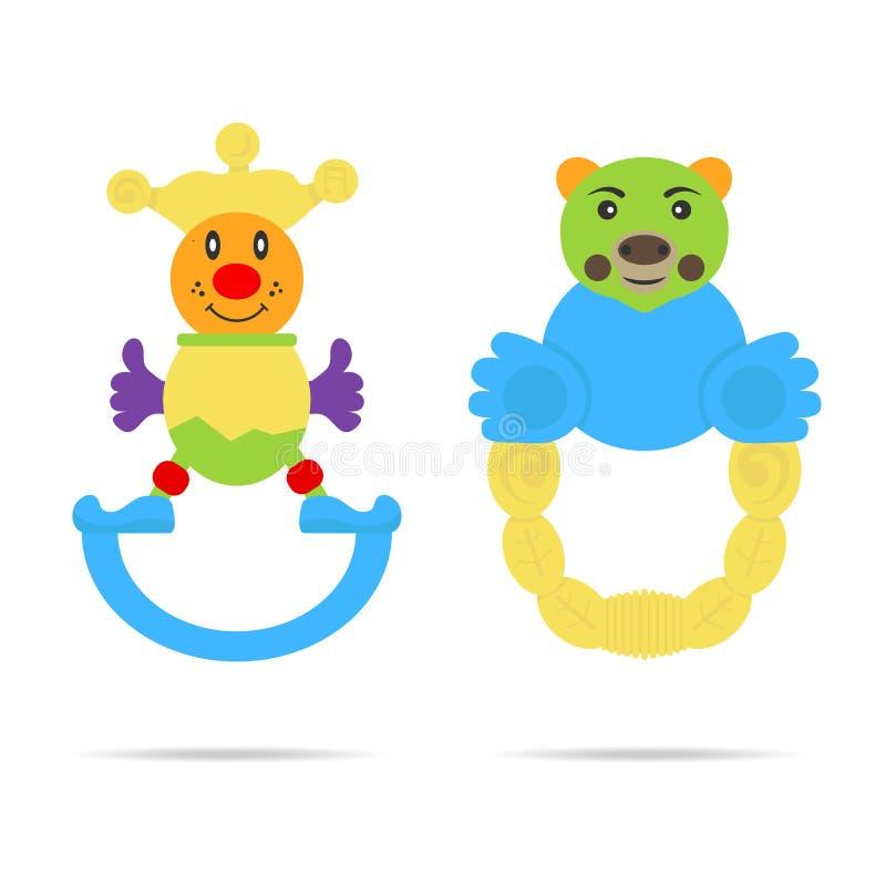Lurar leksaker royaltyfri illustrationer