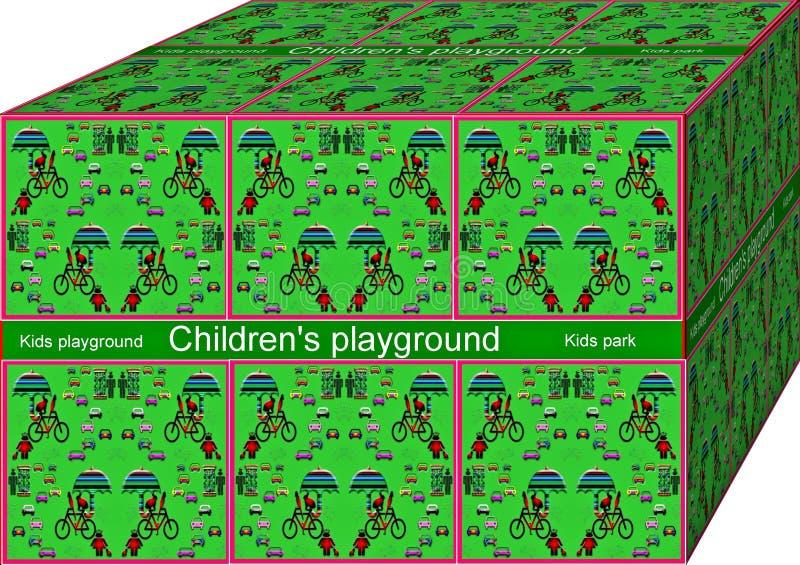 Lurar leksaker Bakgrund illustration 3d cubism vektor illustrationer