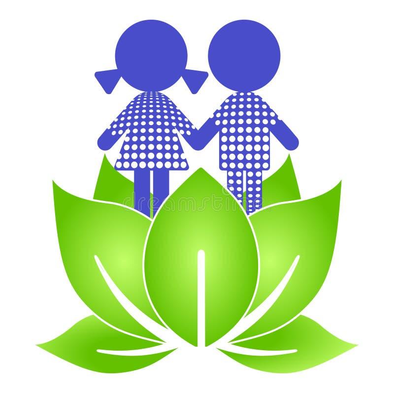 lurar lotusblomma stock illustrationer