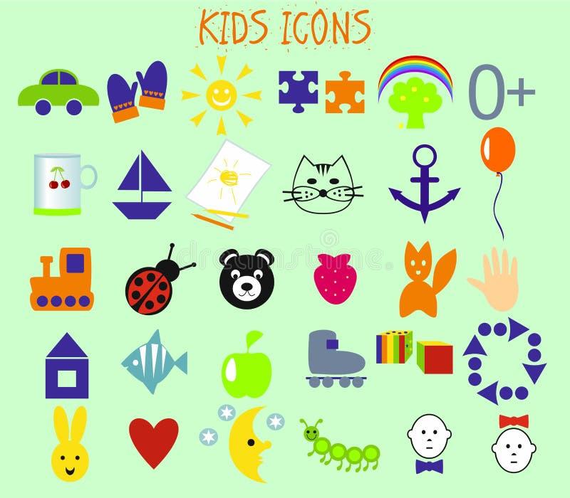 Lurar symboler stock illustrationer