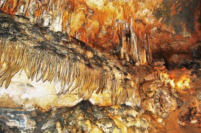 Luray Höhlenwände West Virginia USA lizenzfreies stockfoto