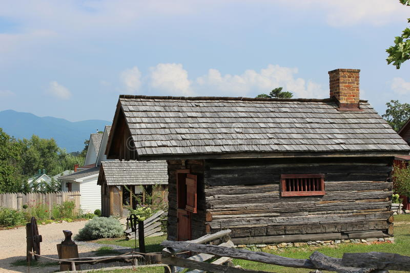 Luray Valley Black Smith Cabin Virginia stock afbeeldingen