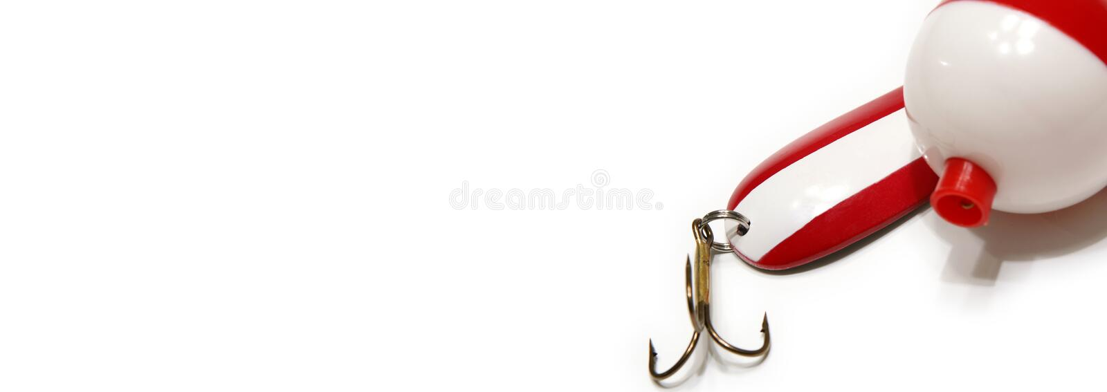 Lure and Bobber Web Banner royalty free stock image