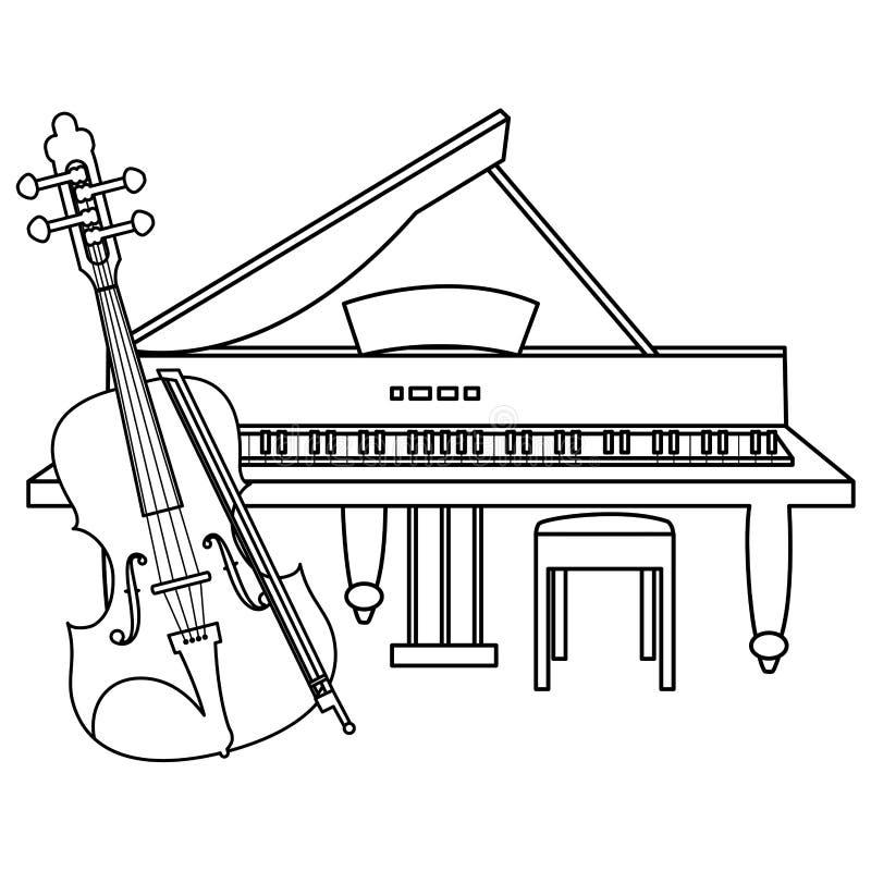 Lurendrejeri- och flygelinstrument stock illustrationer