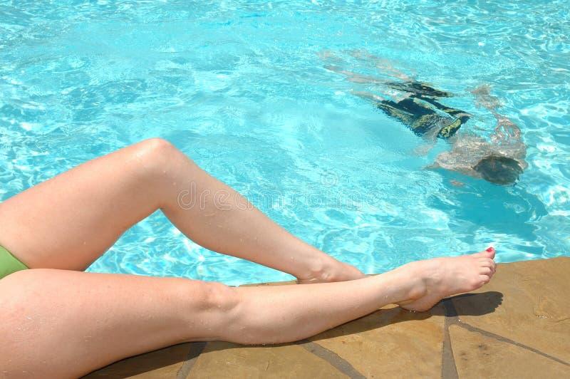 Download Lurking stock image. Image of fummer, ripples, swim, legs - 791773