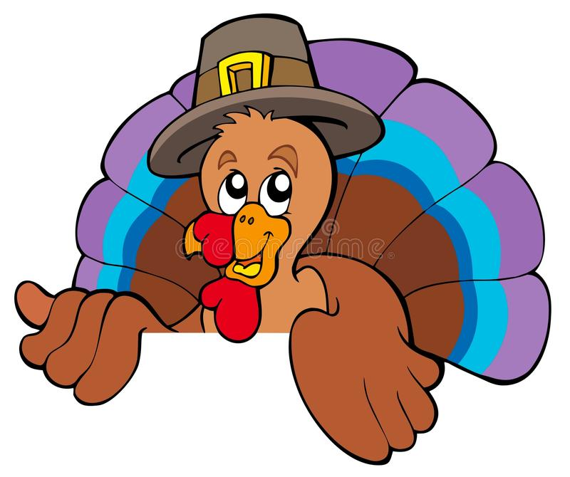 Download Lurking Cartoon Turkey In Hat Stock Photography - Image: 15872652