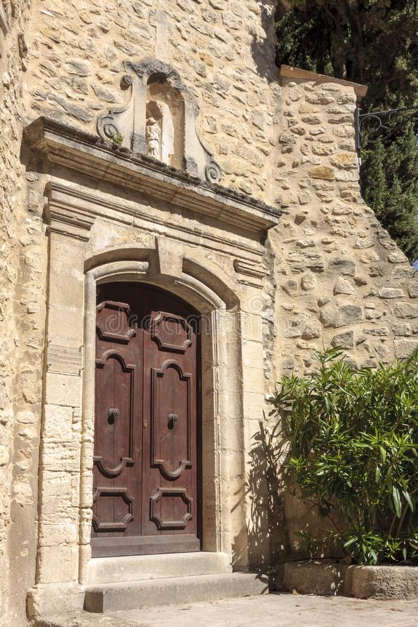 Old door at the village of Lurs in Provence France. stock images