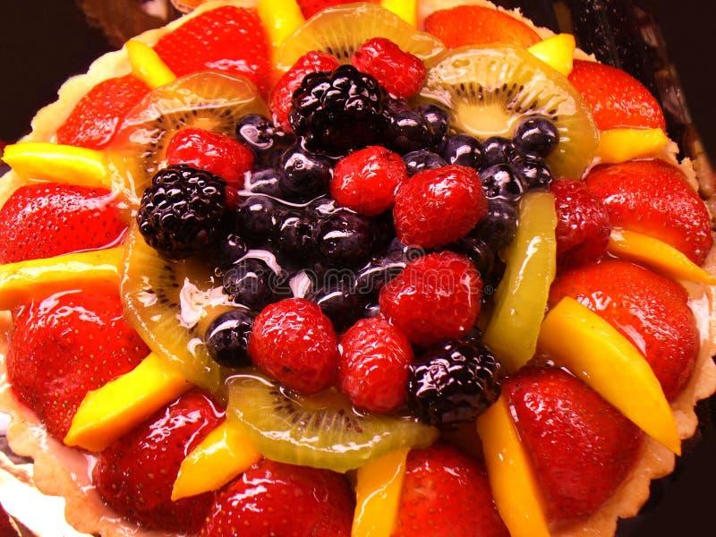Luscious Strawberry Fruit Cake royalty free stock images