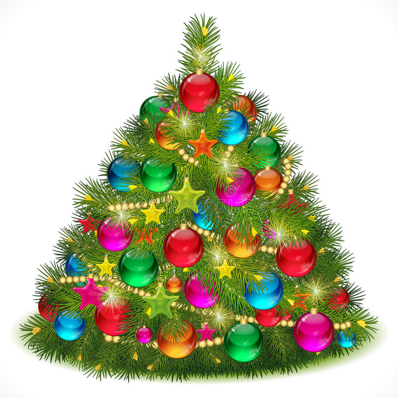 Lush Christmas tree image stock photography