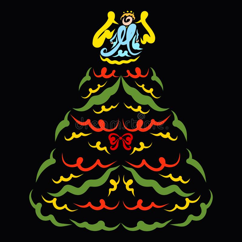 Free Lush Christmas Tree With Angel On Top Royalty Free Stock Images - 158945049