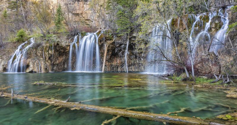 Lush Colorado Paradise at Hanging Lake stock photography