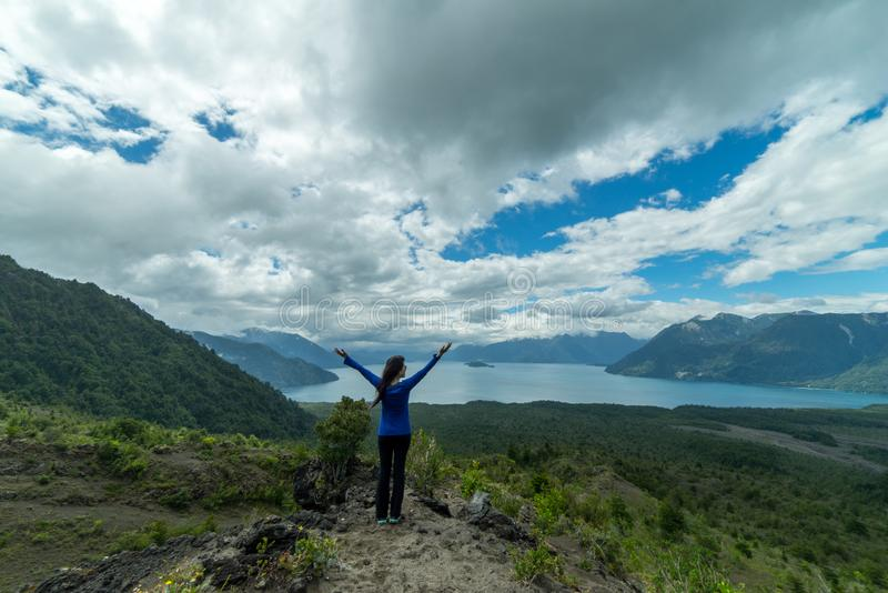 Mountains and lakes near Puerto Varas Chile, Patagonia. stock image