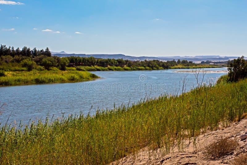 Lush Orange River in het noordelijke deel van Kaap royalty-vrije stock afbeeldingen