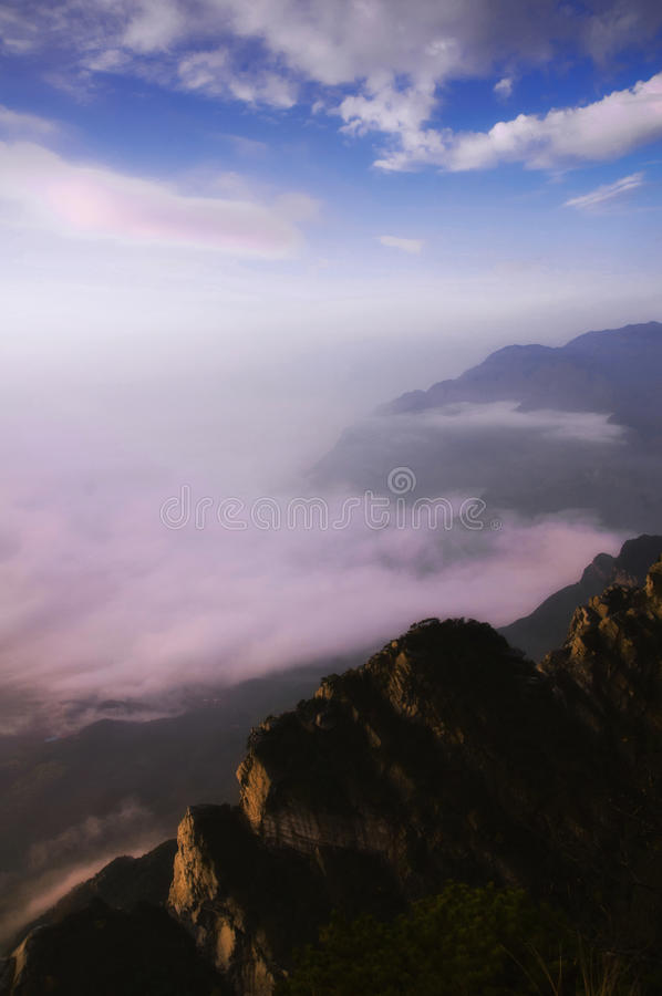 Lushan in China. A very beautiful mountain in China royalty free stock image