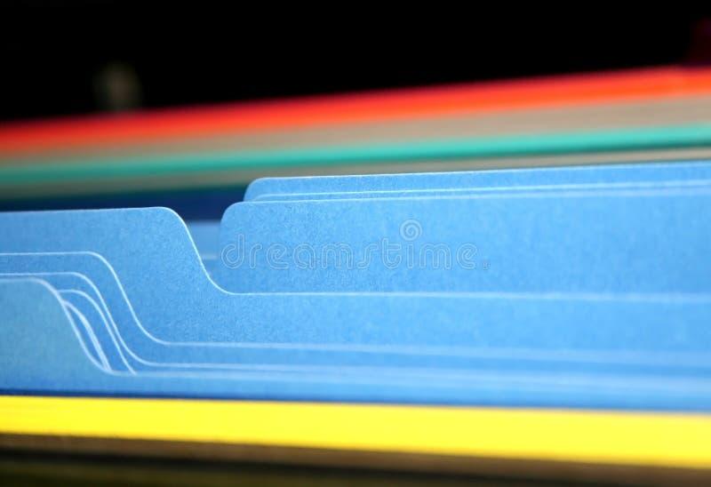 Lusjes van Dossiers stock afbeeldingen