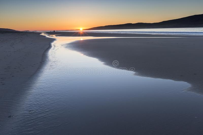 Luskentyre beach on the Isle of Harris in the Outer Hebrides. royalty free stock photos