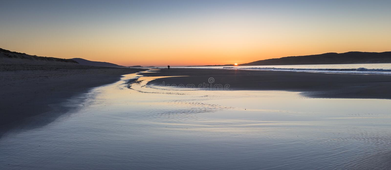 Luskentyre beach on the Isle of Harris in the Outer Hebrides. royalty free stock photography