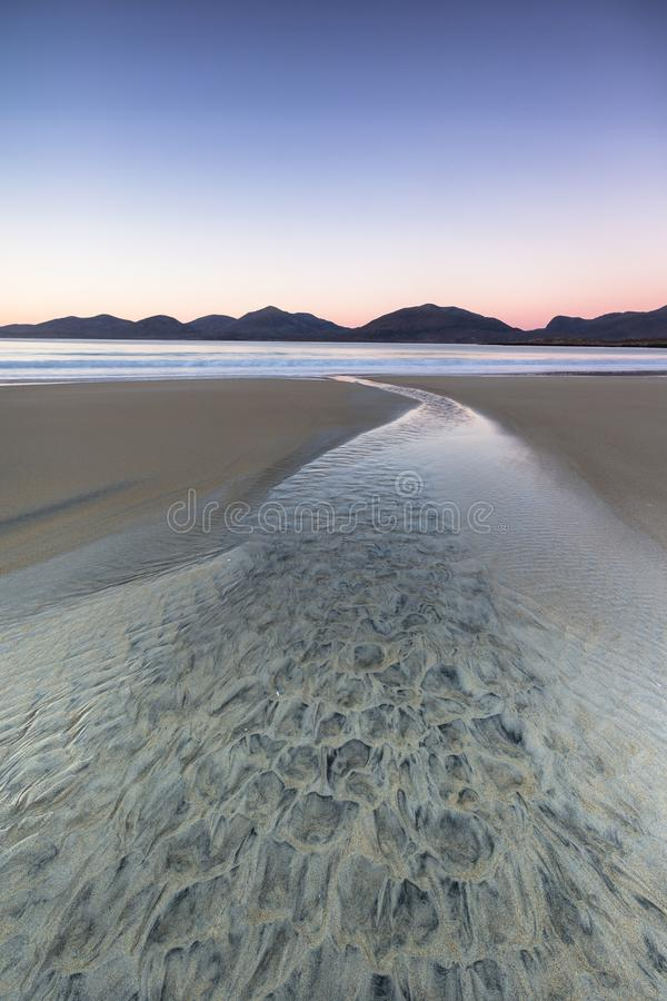 Luskentyre beach on the Isle of Harris in the Outer Hebrides. stock photography