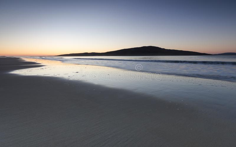 Luskentyre beach on the Isle of Harris in the Outer Hebrides. royalty free stock image