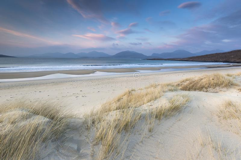 Luskentyre beach on the Isle of Harris in Scotland. royalty free stock image