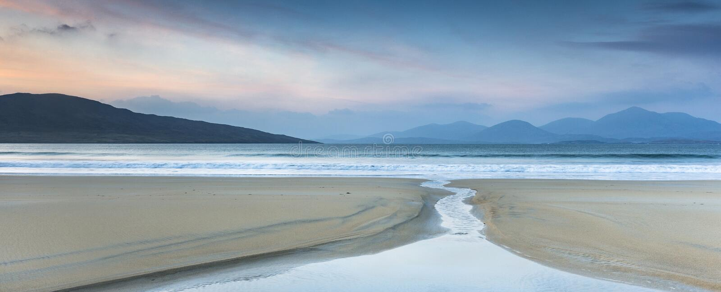 Luskentyre beach on the Isle of Harris in Scotland. stock images