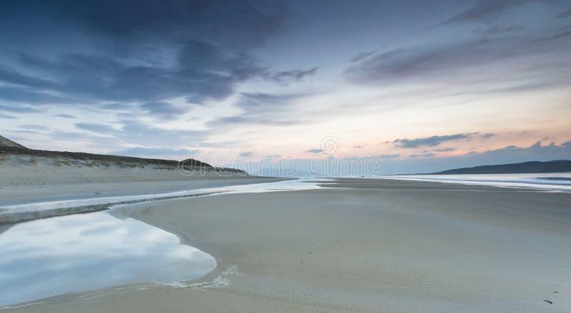 Luskentyre beach on the Isle of Harris in Scotland. stock image