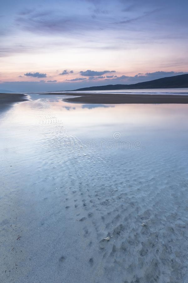 Luskentyre beach on the Isle of Harris in Scotland. royalty free stock photos