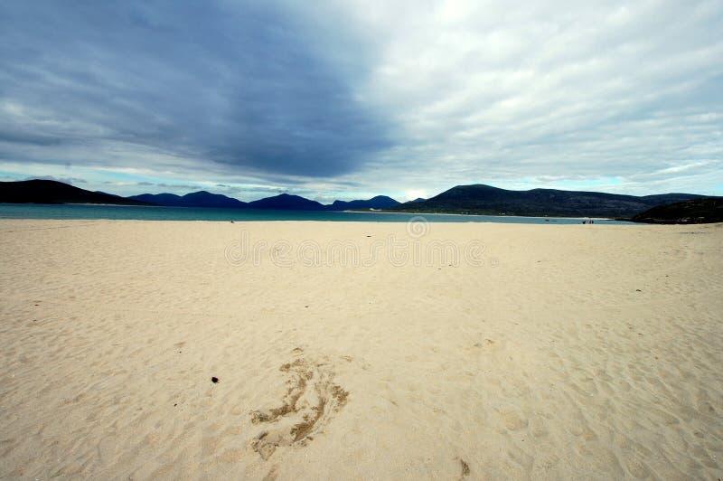 Luskentyre beach, isle of Harris, Scotland royalty free stock photo
